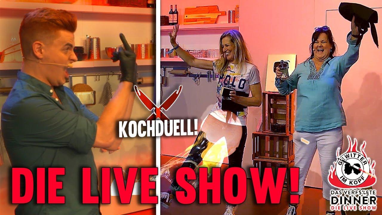 Gewitter im Kopf Live Show! - Das Kochduell gegen Tina und Marion! (1) | DAS VERF$%§TE DINNER