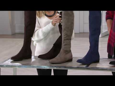Marc Fisher Faux-Suede Over the Knee Boots - Humor on QVC