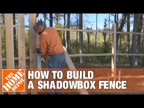 How to Build a Shadowbox Fence | The Home Depot - YouTube