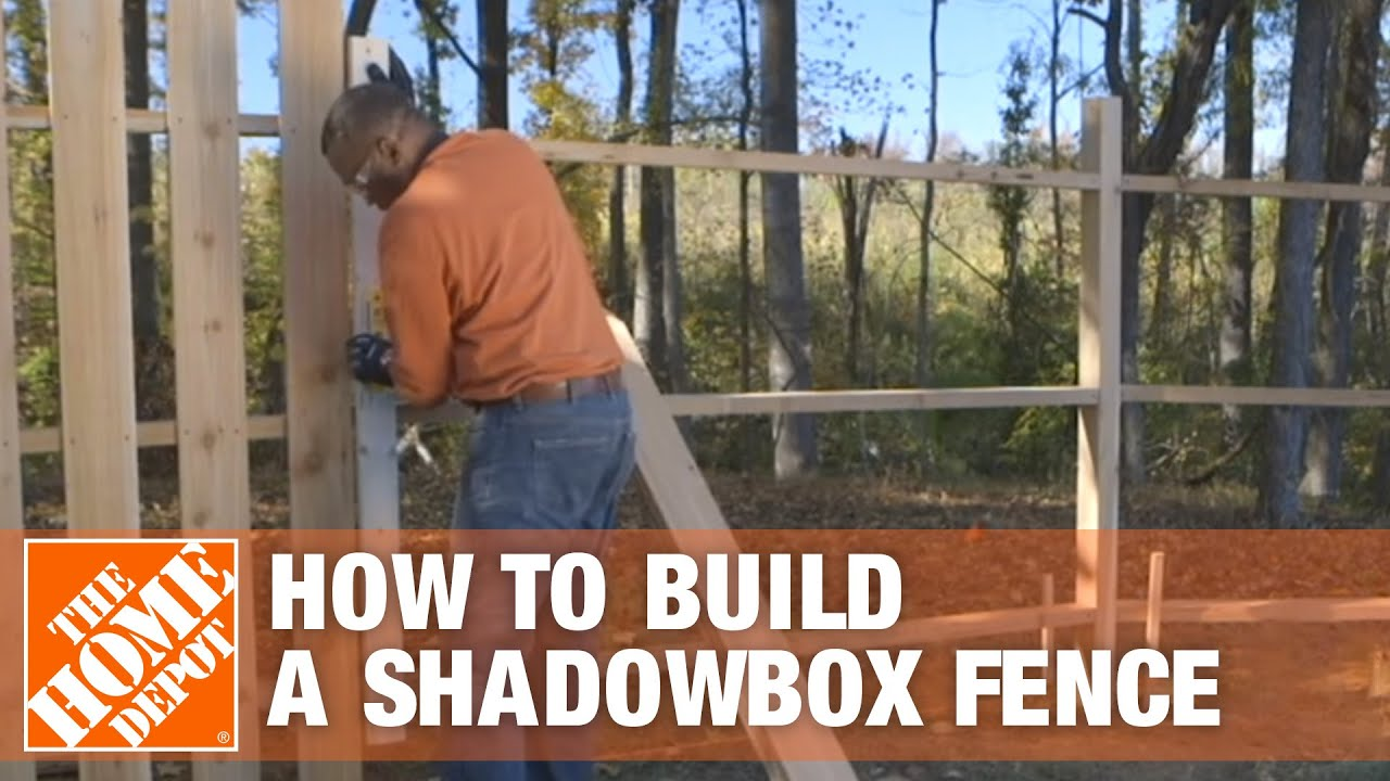 How To Build A Shadowbox Fence The Home Depot