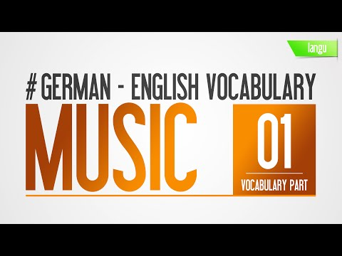 Learn German vocabulary audio language lesson for beginner Music part 1