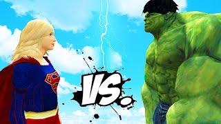 THE INCREDIBLE HULK VS SUPERGIRL EPIC SUPERHEROES BATTLE