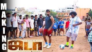 Yogi Babu & Kathir Football Skills live shoot – Jada Official Making
