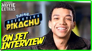 "POKÉMON DETECTIVE PIKACHU | Justice Smith ""Tim Goodman"" On-set Interview"