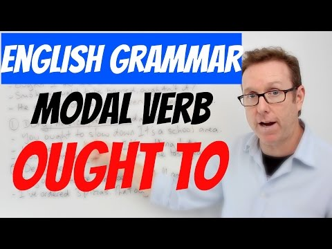English lesson B1+ B2 - Modal auxiliary verb 'ought' - Gramática inglesa