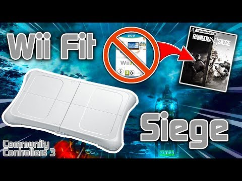 PLAYING RANKED R6 WITH A Wii FIT BALANCE BOARD - Community Controllers Episode 3
