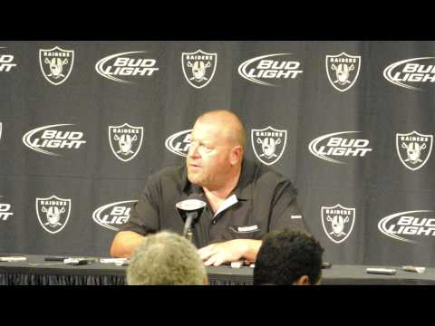 Oakland Head Coach Tom Cable speaks after the Raiders defeat the Chiefs 23-20 pt.1