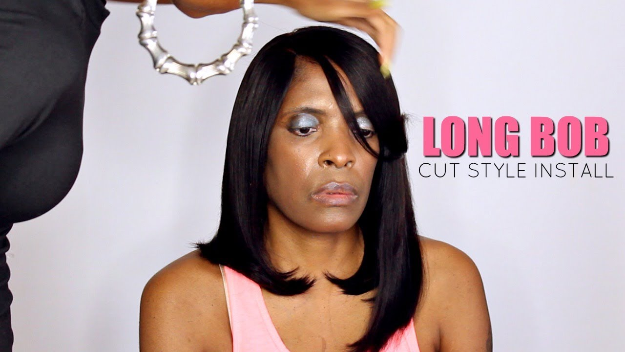 Asymmetrical Long Bob► Natural Hair Protective Styles