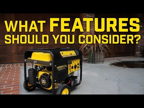 Generator Buying Guide: What features should you consider?