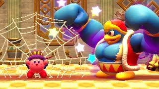 Kirby Star Allies - Kirby Spider Ability (Solo) Vs. Soul Melter Boss Rush