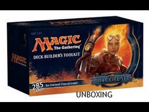 Magic: The Gathering M14 Deck Builder's Toolkit Unboxing Part 1