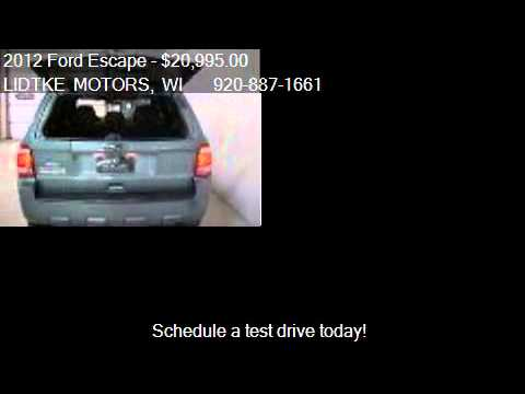 2012 Ford Escape XLT FWD - for sale in BEAVER DAM, WI 53916