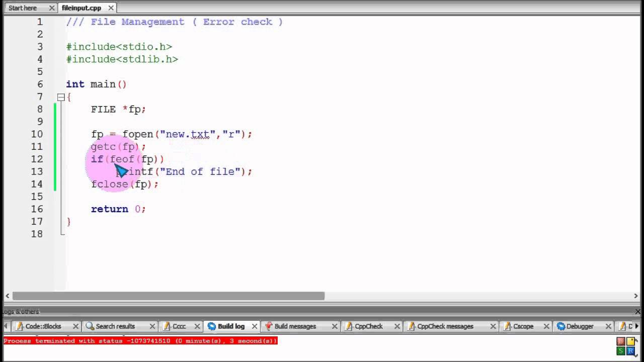 Bangla C Programming Tutorial 121 File Management Error