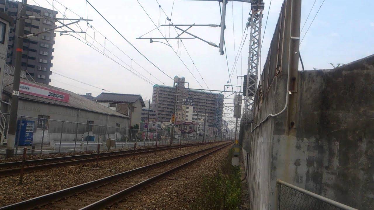 倉敷駅を出発したばかりの岡山行きJR山陽本線普通列車 - YouTube