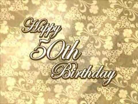 Free Happy 50th Birthday Intro Animation