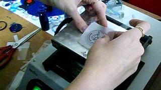 как делать флеш-печати?