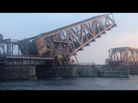 Amtrak 96 crossing the Connecticut River Railroad Bridge 7/16/16