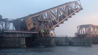 Amtrak 96 crossing the Connecticut River Railroad Bridge 7/16/16