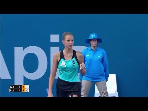 Ana Ivanovic v Karolina Pliskova highlghts (1R)
