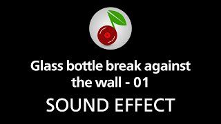 Glass bottle break against the wall - 01, sound effect