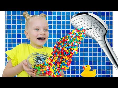 Настя и папа - детская история про вредные конфеты