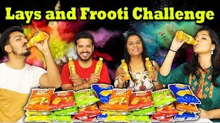 14 Lays and 6 Frooti Challenge | LAYS AND FROOTI EATING COMPETITION | FOOD CHALLENGE INDIA
