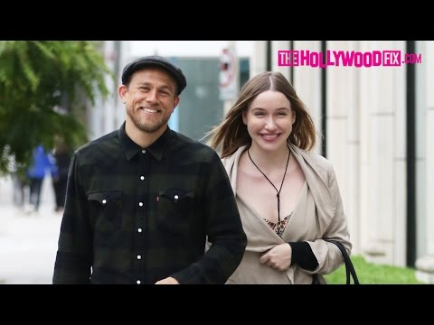Charlie Hunnam & Morgana McNelis Go Furniture Shopping On Melrose Ave. In West Hollywood 6.11.16