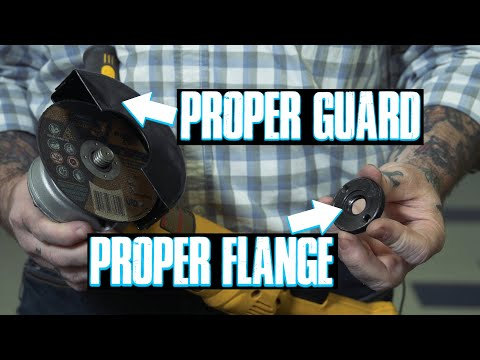 How To Convert An Angle Grinder For Cut Off Wheels