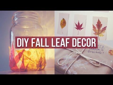 ✂ 3 DIY Fall Leaf Decor Ideas