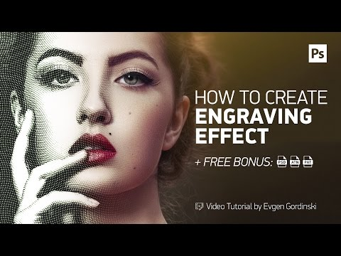 Realistic Engraving Effect + FREE Action & Psd - Photoshop Tutorial