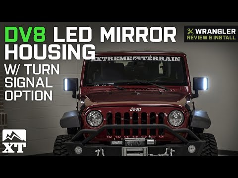 DV8 Off-Road LED Mirror Housing w/ Turn Signal Option (07-18 Jeep Wrangler  JK)