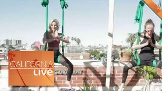 Trying Out Aerial Yoga in La Jolla | California Live | NBCLA