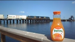 Csx Tropicana Train The Great Chase Juice Left Behind