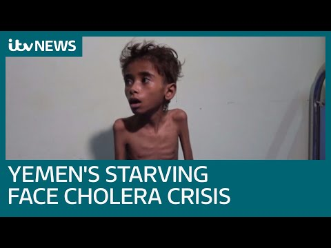 Yemen's starving now face world's worst cholera outbreak | ITV News