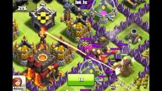 Clash of Clans-Me Vs. Townhall 10,lvl 4 xbows and lvl 2 infeirno tower.