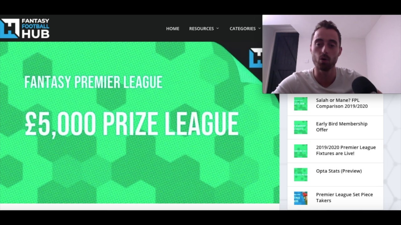 £5000 FPL League Prize from Fantasy Football Hub