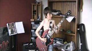 12 year old covers Stiff Upper Lip by AC/DC