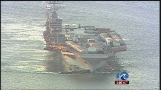 USS Lincoln makes its way to Newport News Shipbuilding