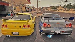 Forza Horizon 3 Online - Skyline GT-R R33 VS Skyline GT-R R34 - Velozes & Furiosos