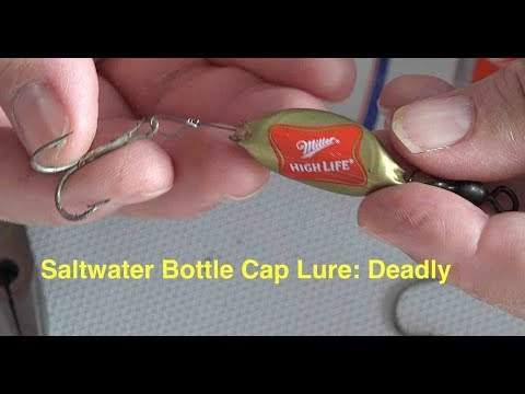 Saltwater Bottle Cap Lure: Deadly For Big Fish - Strong, Small, Weighted, Fishing Rig Video