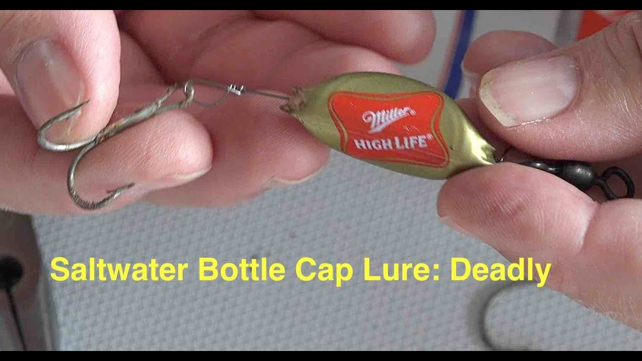 How to make wire saltwater bottle cap fishing lures for How to make a fish trap for big fish