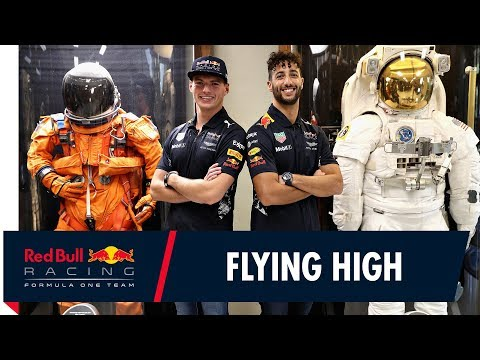 Daniel Ricciardo and Max Verstappen visit NASA's Johnson Space Center