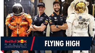 Daniel Ricciardo and Max Verstappen visit NASA's Johnson Space Center