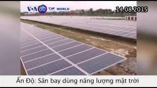 Sân bay năng lượng mặt trời sắp khai trương ở Ấn Độ (VOA60)