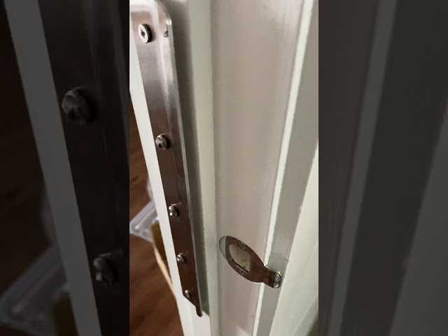 Blocker plate installed inward opening door. Human Key Locksmiths Melbourne