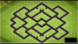 ***Clash of Clans - Rathaus Level 8 - BEST Farming Base-2 Airsweeper! (HD)***