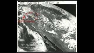 Mount St. Helens 1980 Ash Cloud as Seen From Space