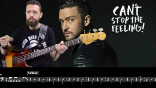 Download Justin Timberlake - Can't stop the feeling - Bass Cover  and Score Mp3 and Videos
