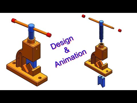 ⚡ SOLIDWORKS TUTORIAL #29 || Design Of Pipe Vice Assembly With Motion Analysis In Solidworks.
