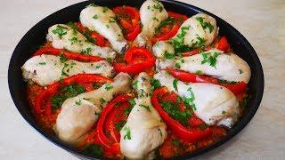 Ужин на Всю Семью Хватит каждому Рис с овощами и куриными голенями Салат Простой но очень Вкусный